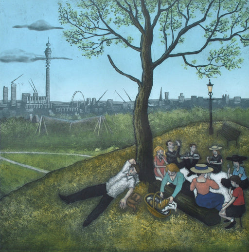 Buy 'Primrose Hill', an original print by Mychael Barratt at The Biscuit Factory.