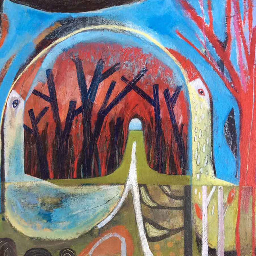 Buy 'Rakes Lane with Birds' an original painting by Michael St. Clair at The Biscuit Factory