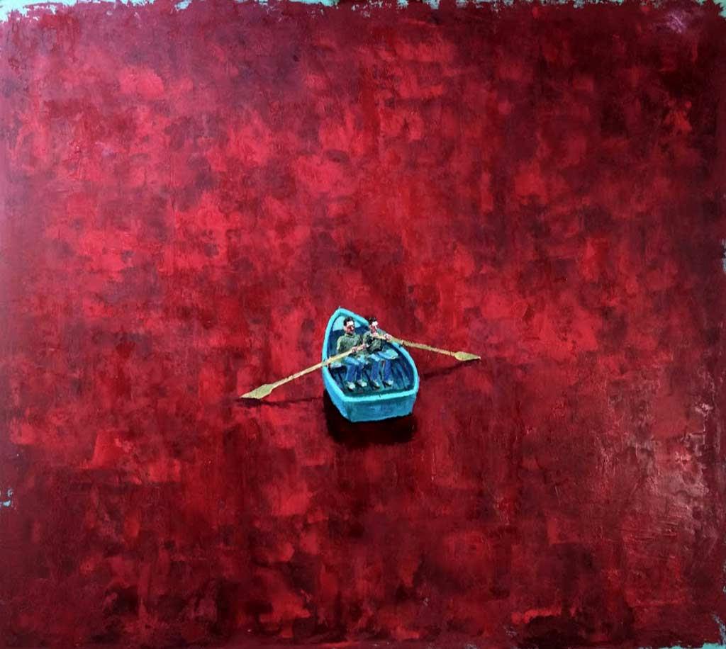 Buy 'Red Sea' an original oil painting by Stuart Buchanan at The Biscuit Factory
