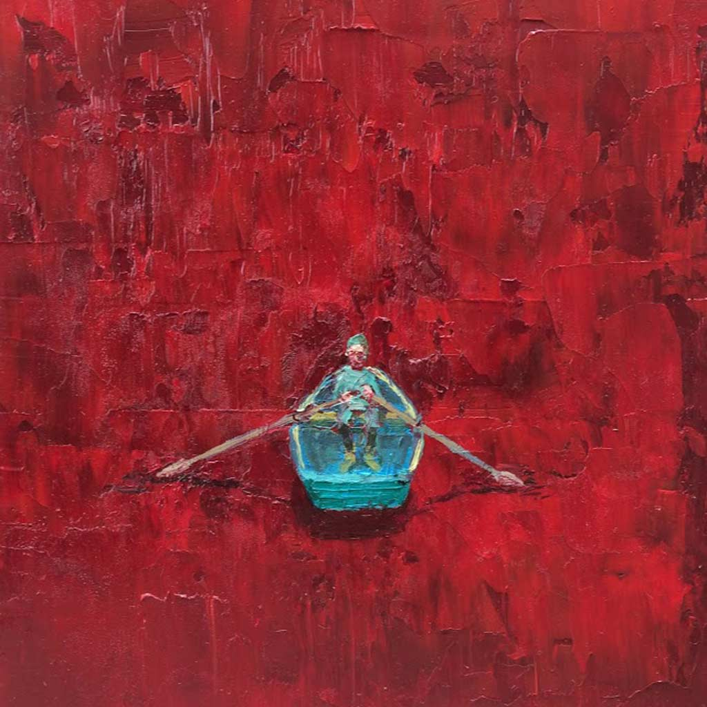 Buy 'Red Sea (Rower)' an original oil painting by Stuart Buchanan at The Biscuit Factory