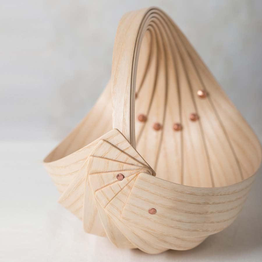 Buy 'Small Ash Trug' handmade sculptural homeware by Jane Crisp at The Biscuit Factory