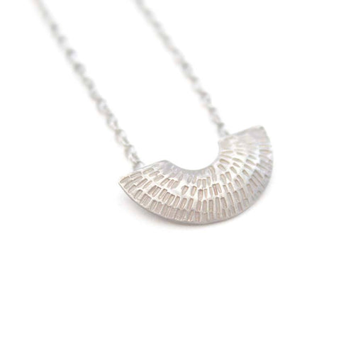 Buy 'Small Gibbous Pendant (Silver)' handmade jewellery by Caitlin Hegney at The Biscuit Factory, Newcastle upon Tyne.