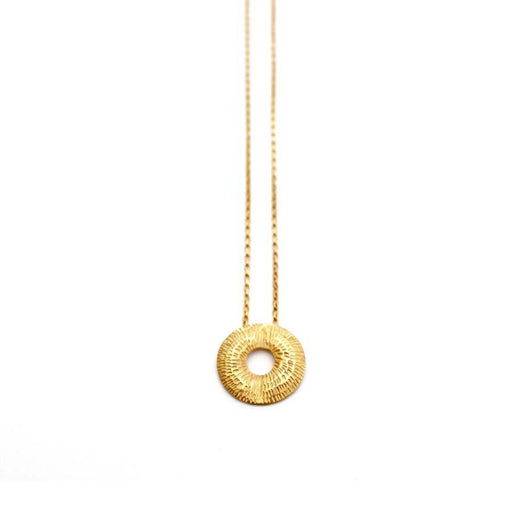 Buy 'Small Torus Pendant (Gold)' handmade jewellery by Caitlin Hegney at The Biscuit Factory, Newcastle upon Tyne.