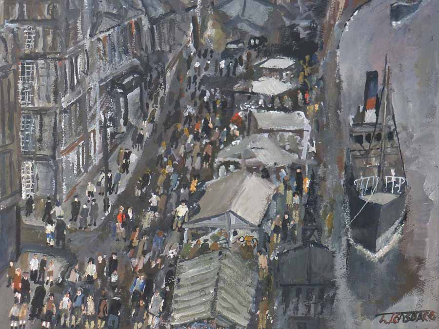 Buy 'Sunday Market - Quayside', an original painting by Malcolm Teasdale at The Biscuit Factory.