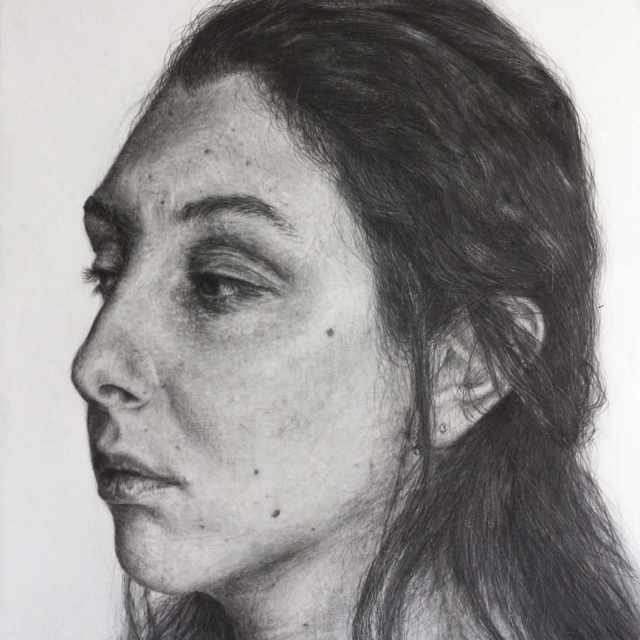 Buy 'Self Portrait', an original graphite drawing by Andrea Santi at The Biscuit Factory. Shortlisted for the Contemporary Young Artist Award 2020.