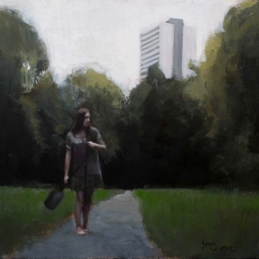 Buy 'Through the Clearing', an original painting by Sam Wood at The Biscuit Factory.