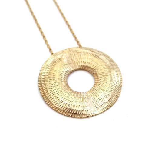 Buy 'Torus Pendant (Gold)' handmade jewellery by Caitlin Hegney at The Biscuit Factory, Newcastle upon Tyne.