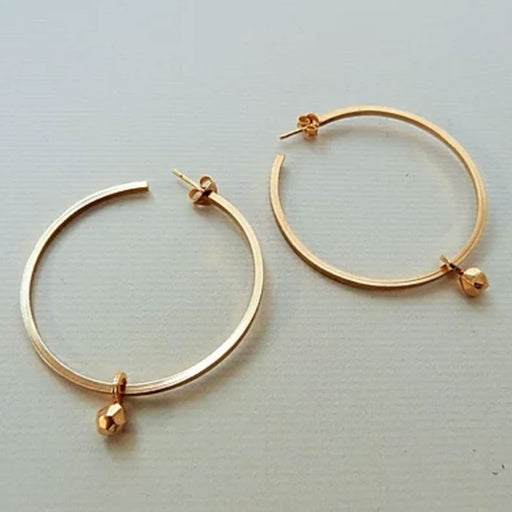 Buy 'Large Luna Hoops' by jewellery maker Elin Horgan at The Biscuit Factory.
