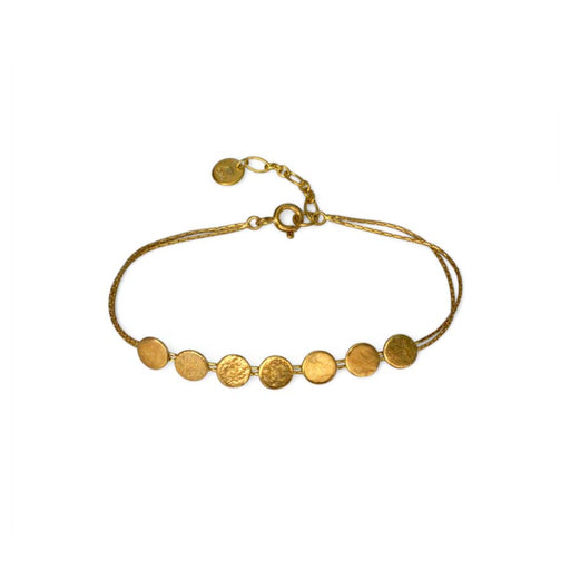 Buy 'Paillette Skinny Bracelet (gold)' by jewellery designer Cara Tonkin at The Biscuit Factory, Newcastle Upon Tyne.