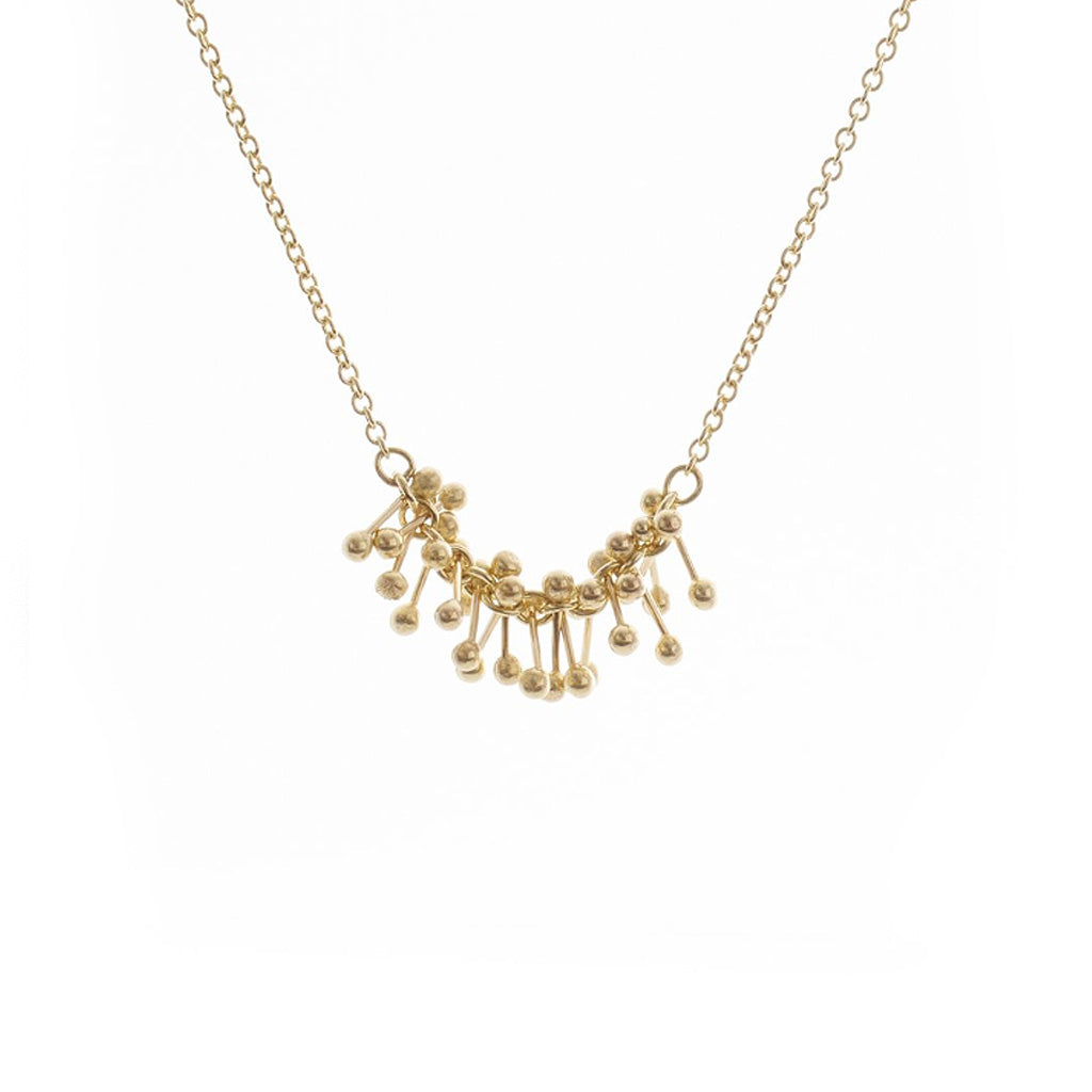 Buy 'Gold Molecule Necklace' handmade jewellery by Yen at The Biscuit Factory