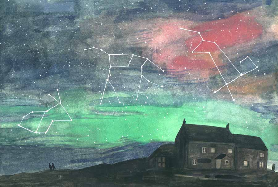 Buy 'Northern Lights - Constellations', an original painting by Sarah Kirk at The Biscuit Factory. Shortlisted for the Contemporary Young Artist Award 2020.