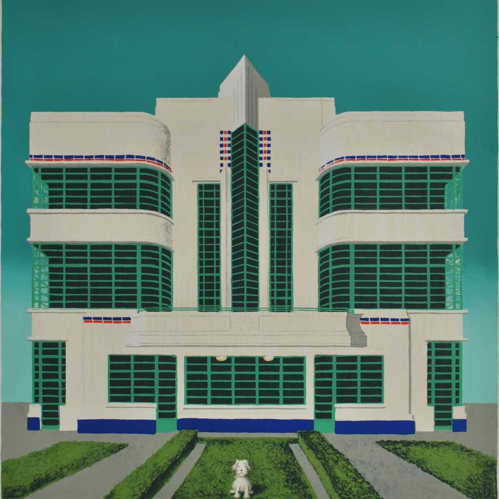 Buy 'Wes Anderson's Dog, Hoover Building', an original print by Mychael Barratt at The Biscuit Factory