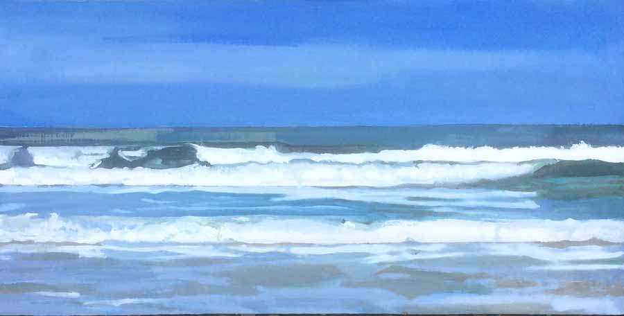 Buy 'White Waves', an original painting by Graham Rider at The Biscuit Factory.