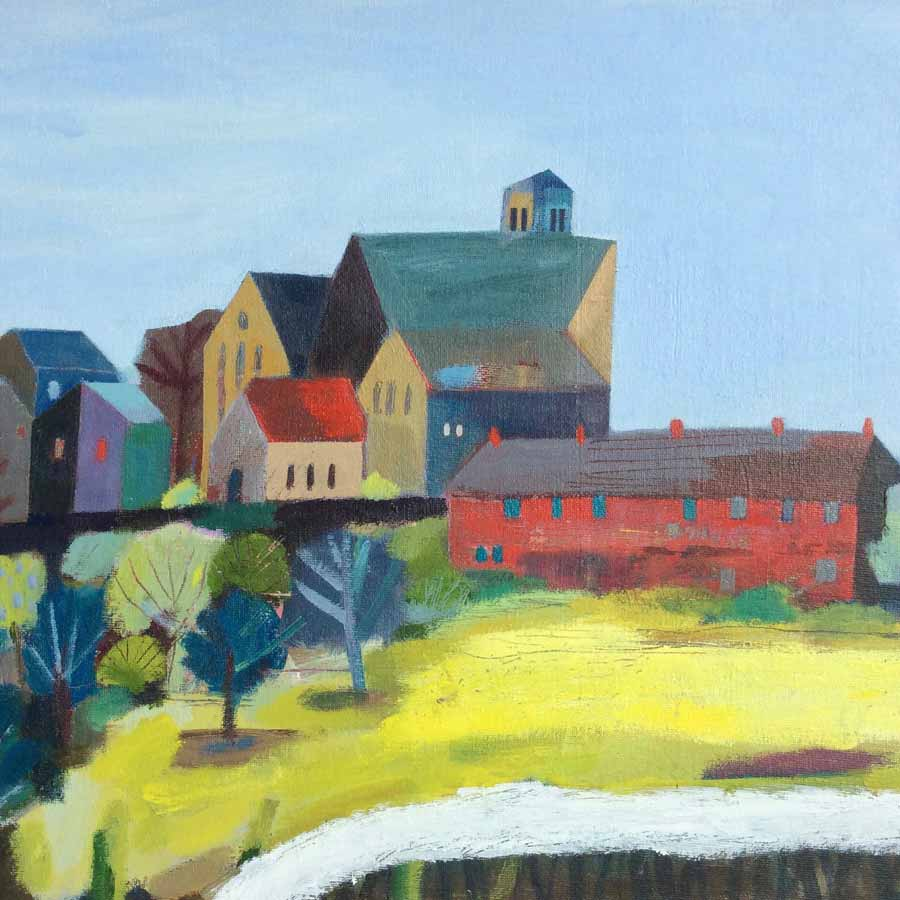 Buy 'Yellow Field at Ryhope', an original painting by Michael St. Clair at The Biscuit Factory.