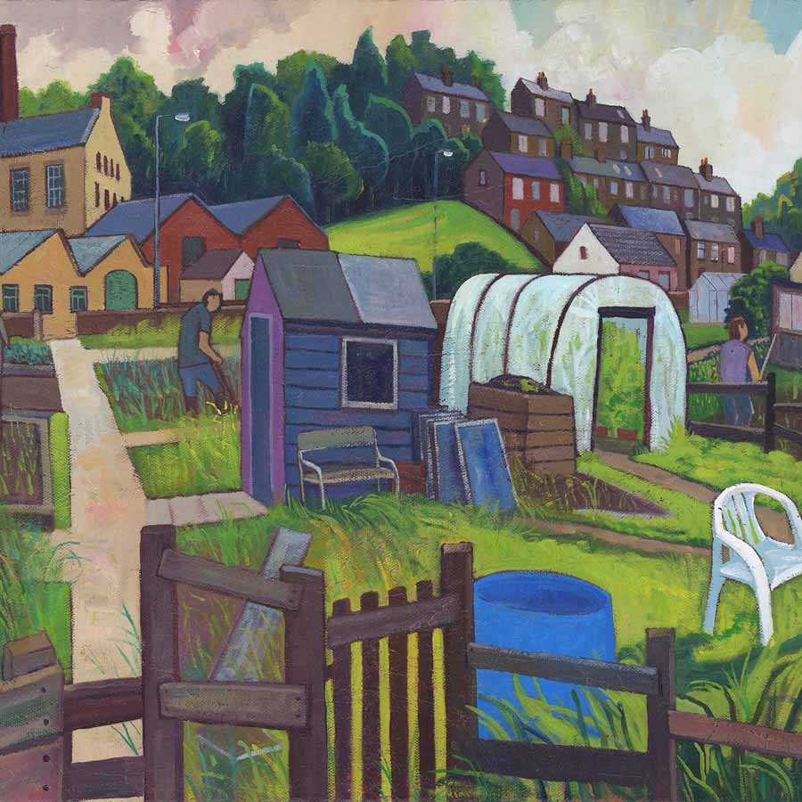 Buy 'Yorkshire gardens', an original painting by Chris Cyprus at The Biscuit Factory.