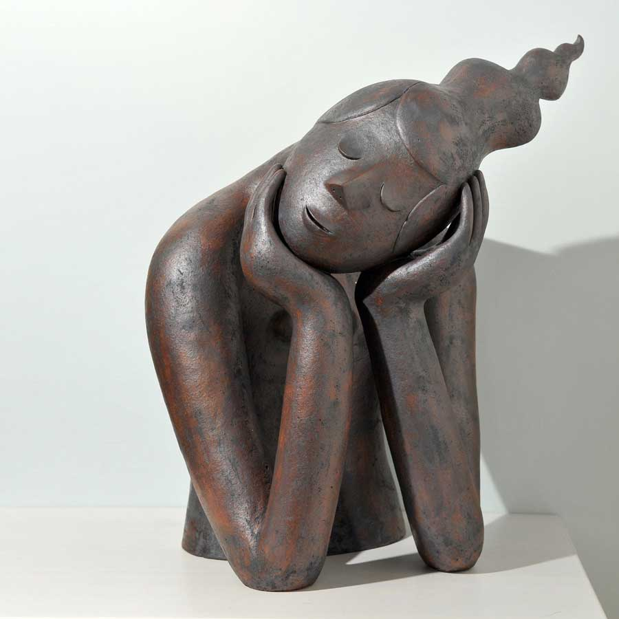 Buy 'Dreaming', an original handmade ceramic sculpture by Chiu-i Wu at The Biscuit Factory, Newcastle Upon Tyne.