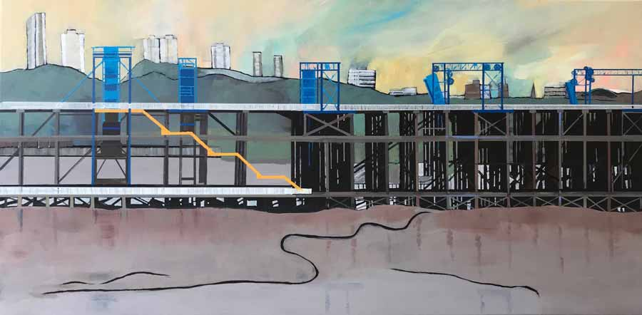 Buy 'Dunston Staiths South Side', an original painting by Judith Appleby at The Biscuit Factory.