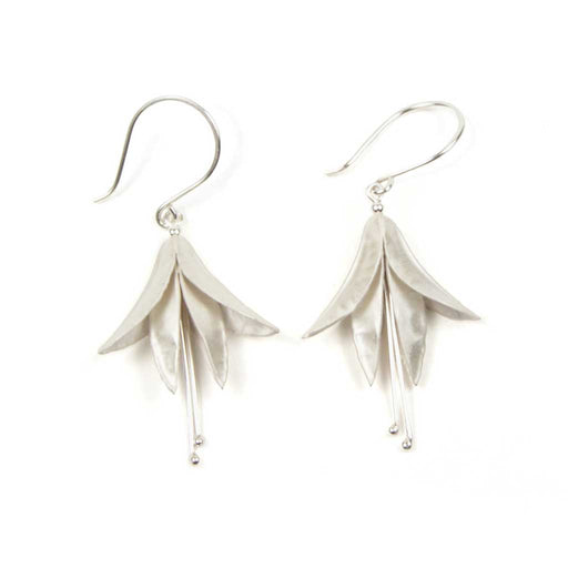 Handmade earrings by jeweller Nettie Birch at The Biscuit Factory.
