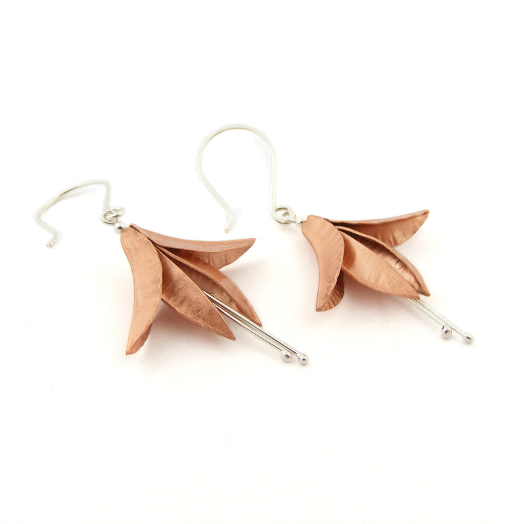 Handmade earrings by jewellery Nettie Birch at The Biscuit Factory.