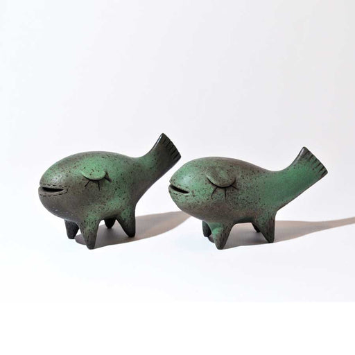 Buy 'Happy Fish', an original handmade ceramic sculpture by Chiu-i Wu at The Biscuit Factory, Newcastle Upon Tyne.