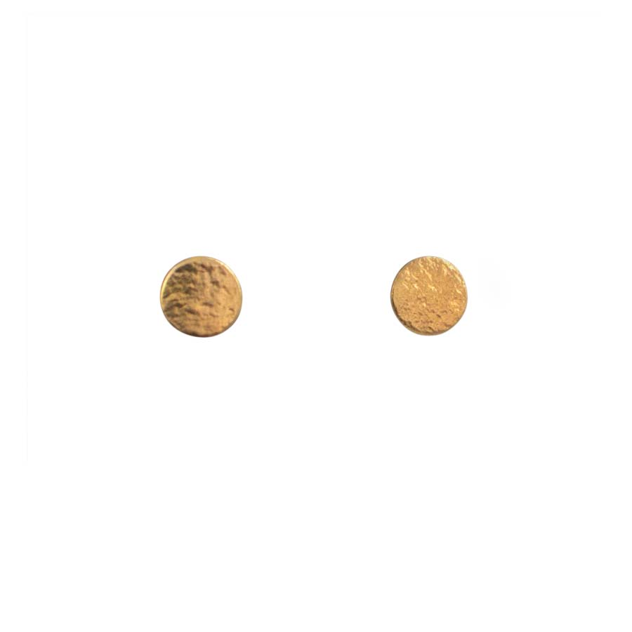 Buy 'Medium Paillette Studs (gold)' by jewellery designer Cara Tonkin at The Biscuit Factory, Newcastle Upon Tyne.