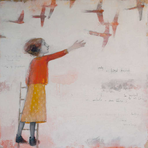 Buy 'Only a Bird Knows' an original painting by Scottish artist Lucy Campbell at The Biscuit Factory