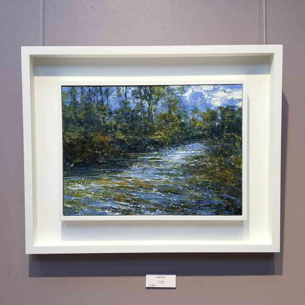 Original landscape painting in situ by John Brenton at The Biscuit Factory.
