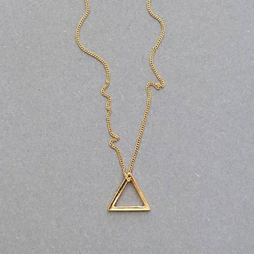 Small Triangle Necklace (gold)