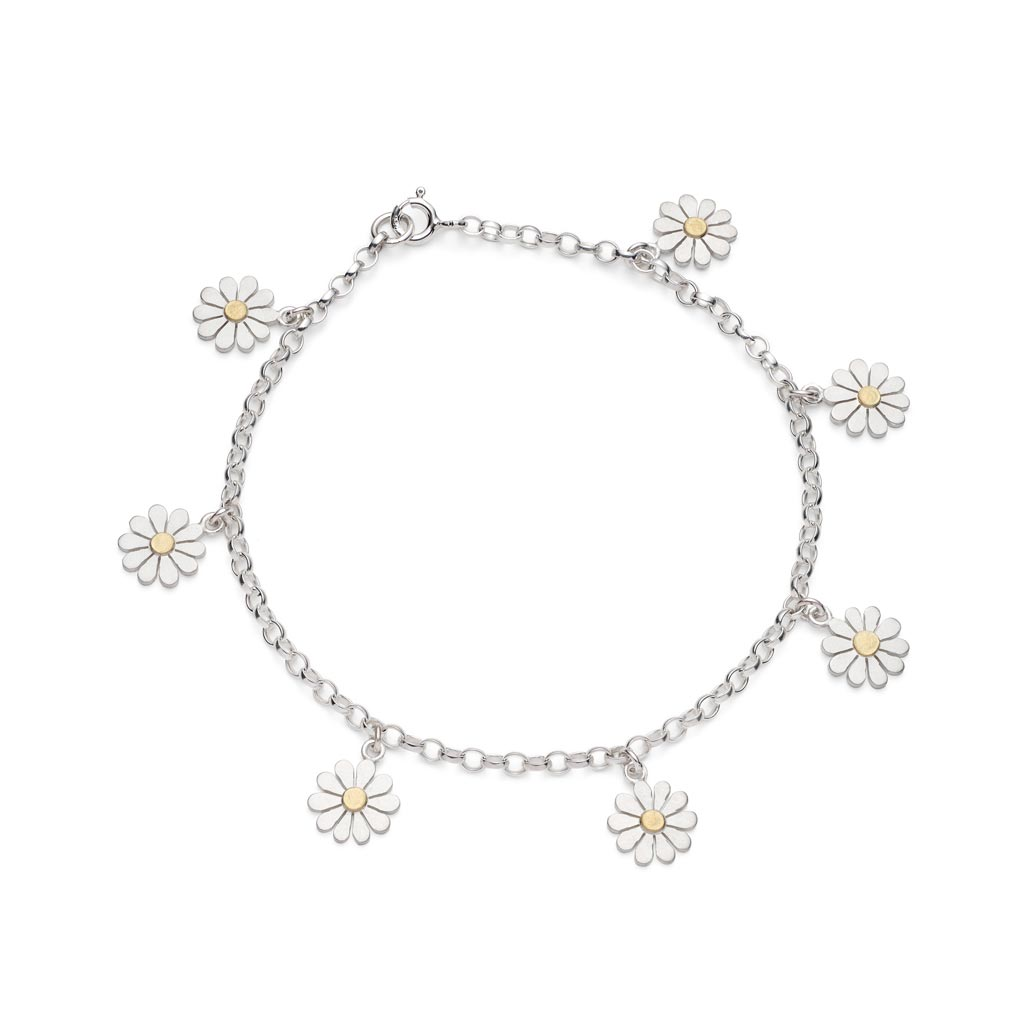 Buy 'Teeny Daisy Bracelet', handmade jewellery by Diana Greenwood at The Biscuit Factory