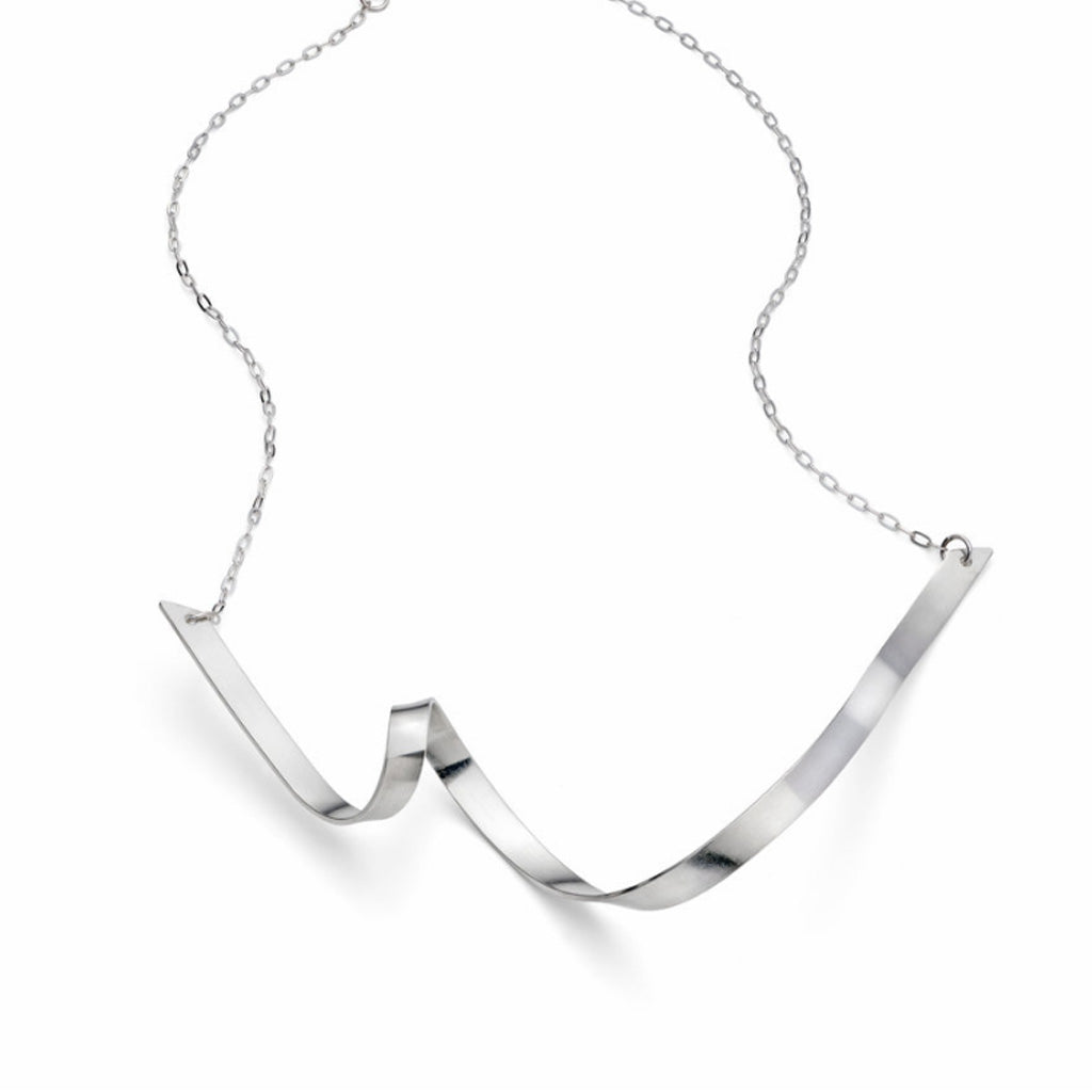 Buy 'Ribbon Loop V Necklace' handmade jewellery by Jodie Hook at The Biscuit Factory