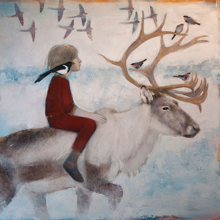 Buy 'Wonderlust' an original painting by Scottish artist Lucy Campbell at The Biscuit Factory