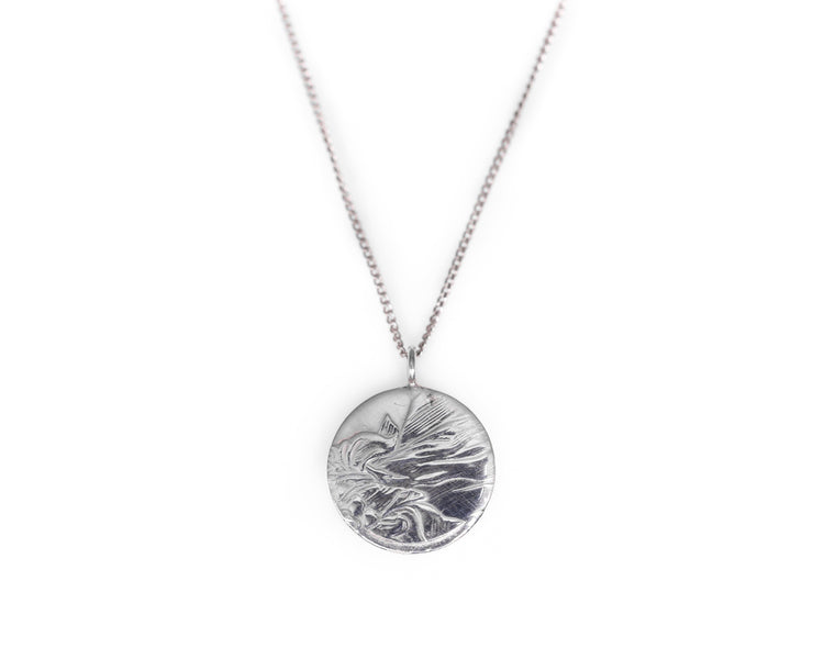 Round Silver Necklace - Minted Jewellery