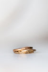 Rose Gold Plated Organic Silver Stacking Ring Set - Minted Jewellery
