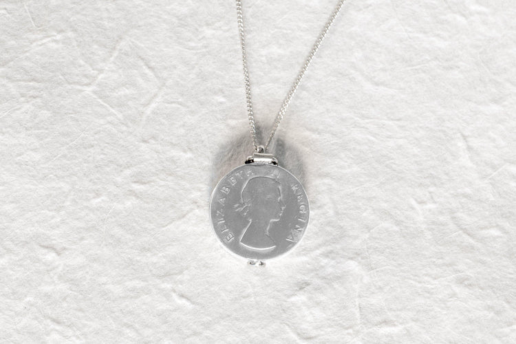 Silver Coin Locket Necklace - Minted Jewellery