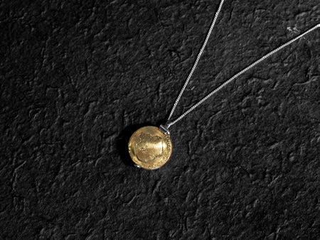 Brass Coin Locket Necklace - Minted Jewellery