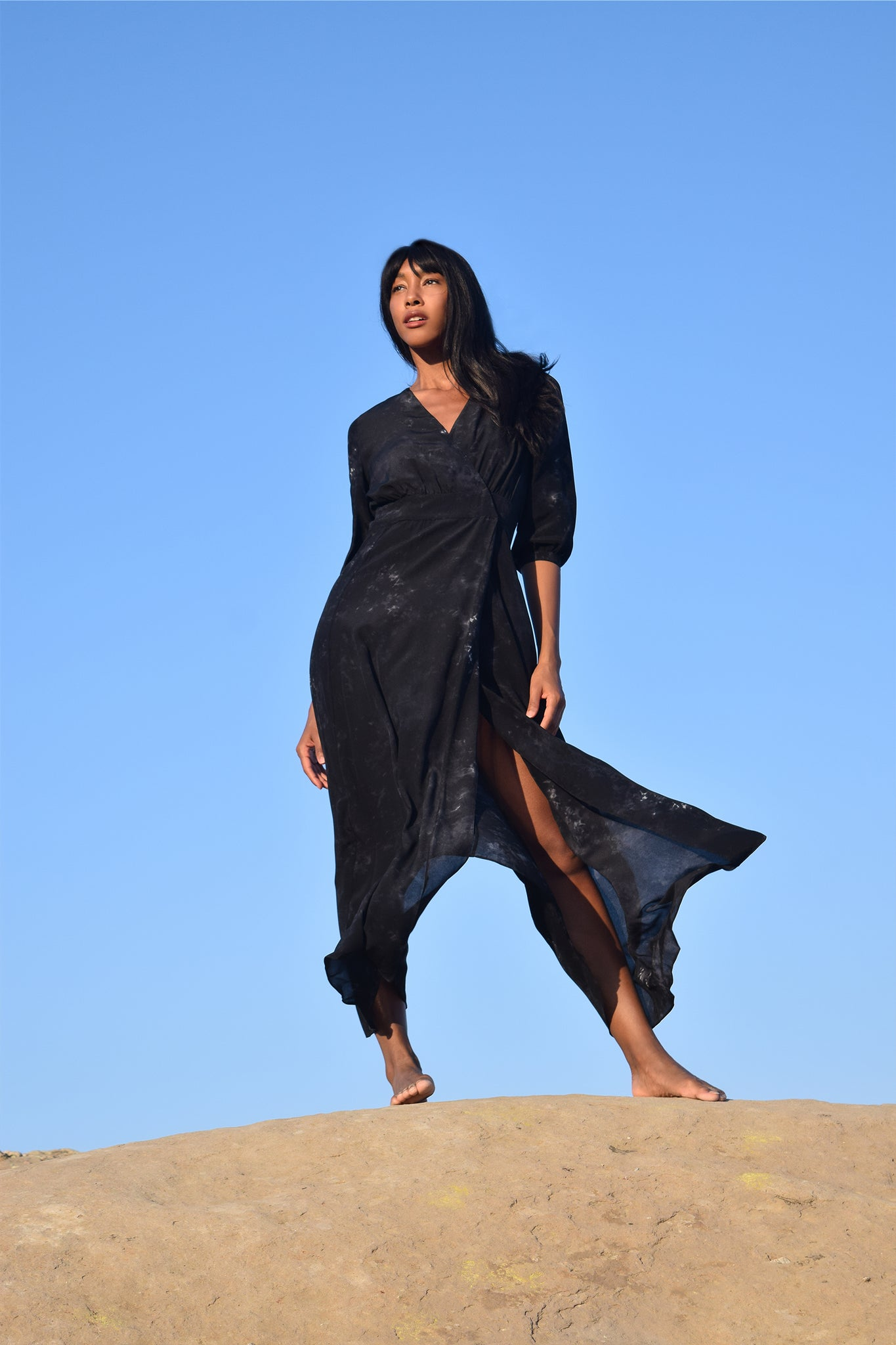 Greek draped jersey Kaftan style dress