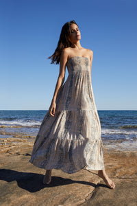 Beach dress in Sand Blush