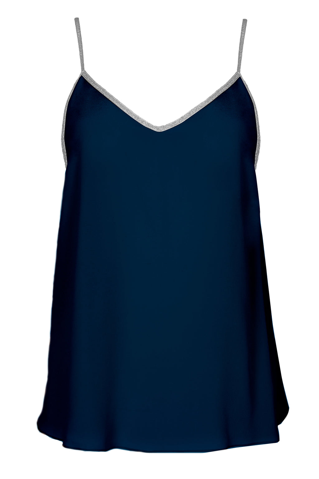 Rhodes silk camisole in midnight