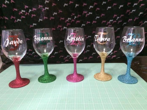 Pink-Glitter-Stem_Personalised-Wine-Glass