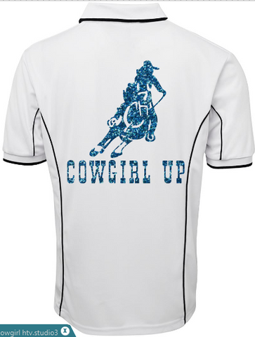 Cowgirl up polo shirt Unisex sizes