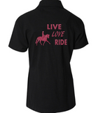Live Love Ride Childs polo shirt