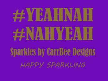 Sparkles by Carrbee design YEAHNAH glitter T-shirt