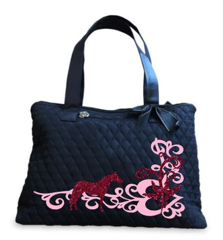 Scroll-Design-Small-Horse_Tote Bag