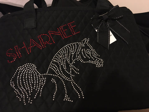 Personalised Rhinestone design Tote bag