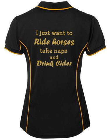 I-Just-Want-To-Ride-Take-Naps-And-Drink-Tea-Design-Polo-Shirt