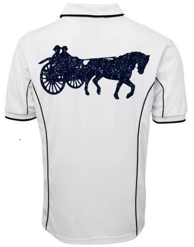 Carriage driving polo shirt