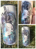 Smoke effect time tattoo tumbler 590ml - Rhinestone Empire Equine