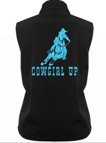 Cowgirl-Up-Design-Soft-Shell-Vest