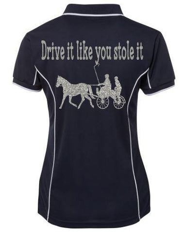 Drive it like you stole it  polo shirt