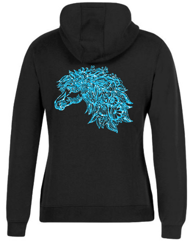 Mandala-Horse-Head-Design-Hoodie-Hooded-Jumper